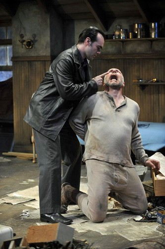 James Barry and Jonathan Epstein in Berkshire Theatre Festival's Unicorn Theatre production of The Caretaker. Photo Kevin Sprague.