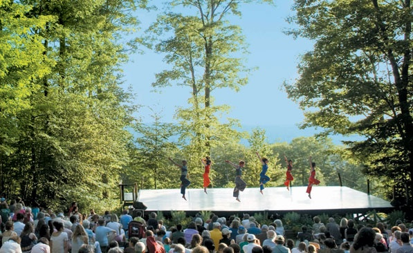 Jacob's Pillow: the outdoor stage. Photo from jacobspillow.org.