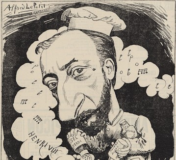 Saint-Saëns, Caricature as composer of Henry VIII