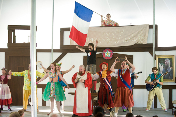 Shakespeare & Company's Bastille Day Performance of Molière's Tartuffe. Photo Kevin Sprague.