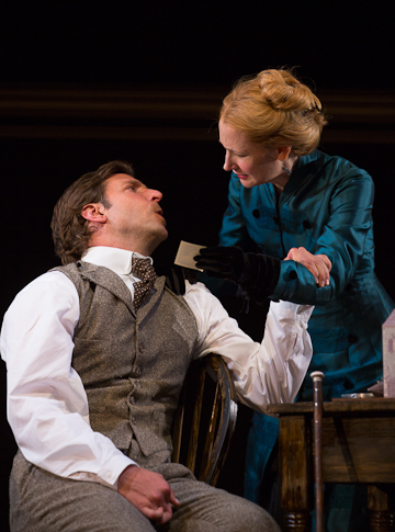 Bradley Cooper and Patricia Clarkson in a scene from The Elephant Man. Photo T Charles Erickson.
