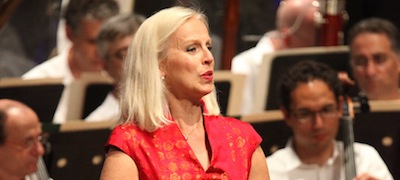 Anne Sofie von Otter performs Mahler 3 with the Boston Symphony at Tanglewood July 6 2013. Phoo by Hilary Scott.