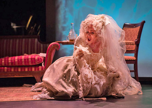 Heather Buck as Miss Havisham. Photo Kathy Wittman.