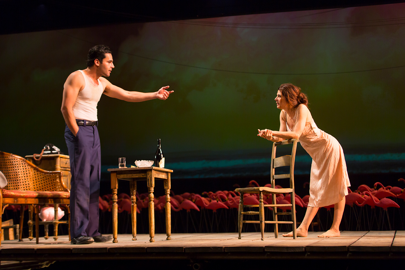 Christopher Abbott and Marisa Tomei in The Rose Tattoo at the Williamstown Theatre Festival. Photograph © T Charles Erickson.