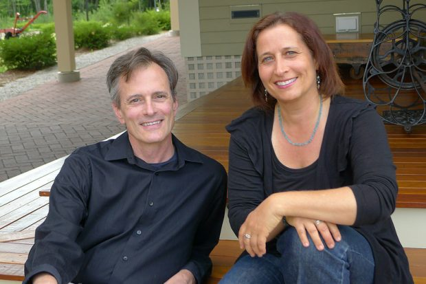 Duo pianists Mark Evans and Gili Melamed-Lev.