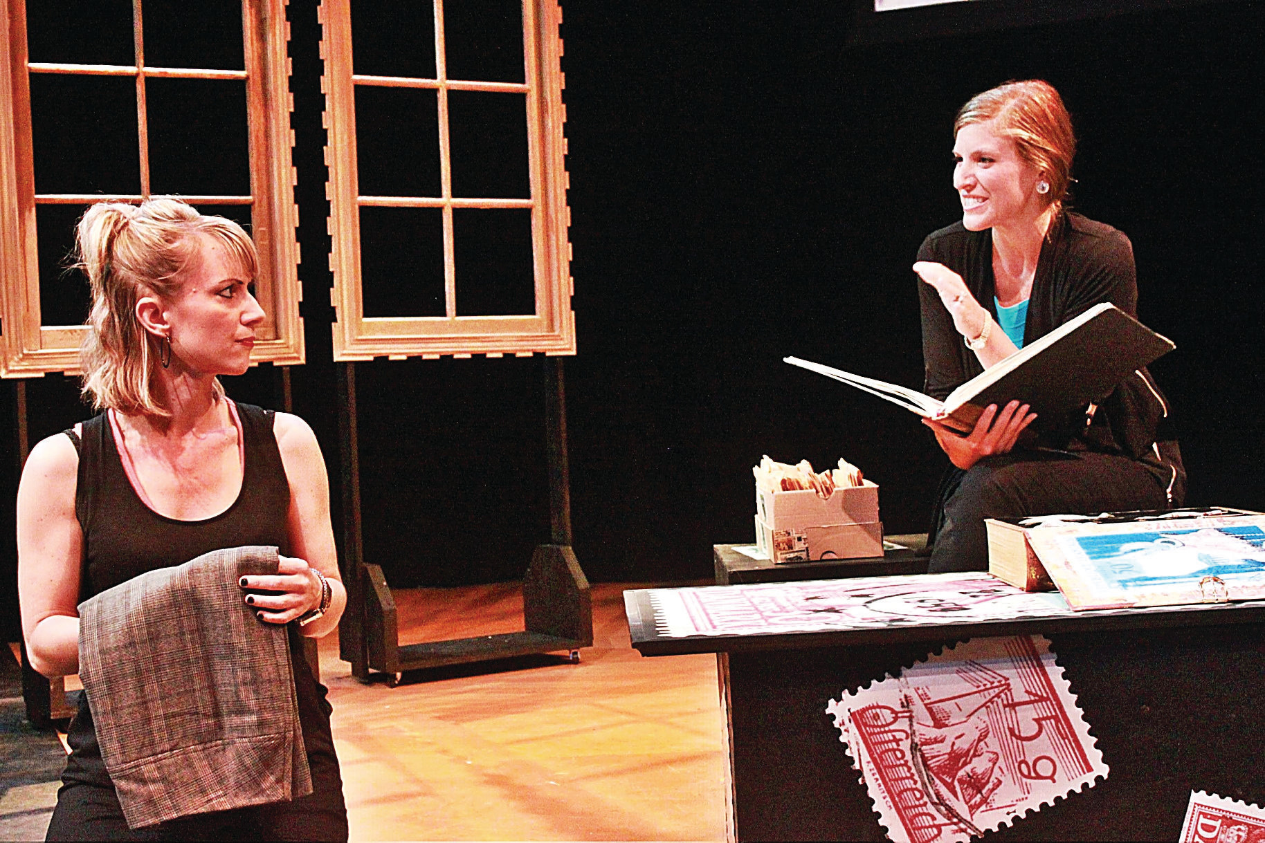 Meredith Meurs and Doria Bramante in Theresa Rebeck's Mauritius at the Oldcastle Theatre Company, Bennington