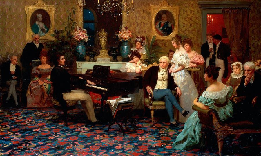 Henryk Siemiradzki, Chopin plays for the Radziwiłłs, 1829. Oil on canvas, 1887