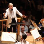 Herbert Blomstedt conducts the TMC Orchestra. Photo Hilary Scott.