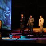 Ryne Cherry, Dominik Belavy, Daniel McGrew, and Elaine Daiber perform in A Quiet Place at Seiji Ozawa Hall at Tanglewood, 8.9.18. Photo Hilary Scott.