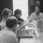 Front to back: Peter Maloney, Anne Bancroft, Arthur Penn.