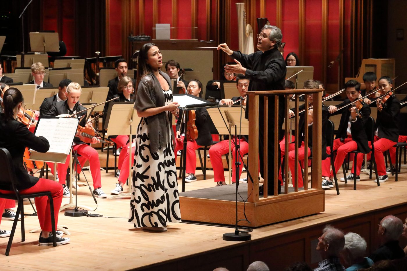 Isabel Leonard joins the National Youth Orchestra of the USA for Berlioz's Nuits d'ete. Photo Hilary Scott.