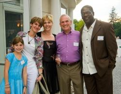 Elizabeth Aspenlieder with Eve Strickberger, Deborah Miller, Michael Miller and Johnny Lee Davenport
