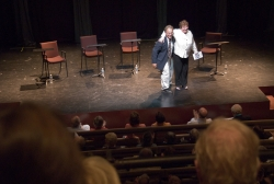 Tina Packer and Tony Simotes introduce the play.
