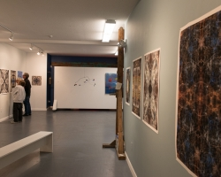 Ewa Nogiec and friends in the gallery. Photo 2013 Michael Miller.