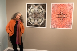 Joanna and her work. Photo 2013 Michael Miller.