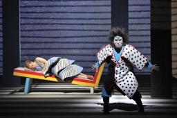 Japonisme: Heidi Stober (Pamina) and Greg Fedderly (Monostatos). Photo by Cory Weaver.