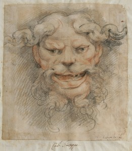Giuseppe Cesari, called Il Cavaliere d'Arpino (Italian, 1568–1640), Head of a Satyr, Black and red chalk on paper, 7 1/2 x 6 in., 1596, Collection of Robert Loper