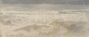 1912 Federal Capital Competition, view from Mount Ainslie, drawing by Marion Mahony Griffin