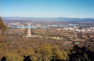 Canberra as built: view from Mount Ainslie, 2002