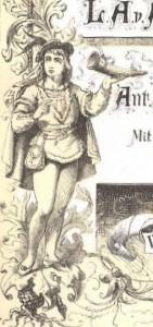 Des Knaben Wunderhorn, ed. 1874, frontispiece
