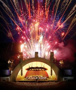 Gustavo Dudamel's US Debut in the Hollywood Bowl, 2005. Photo Mathew Imaging.