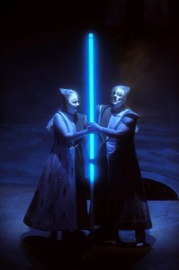 Die Walküre at the LA Opera, Michelle DeYoung as Sieglinde and Placido Domingo as Siegmund. Photo Monika Rittershaus.