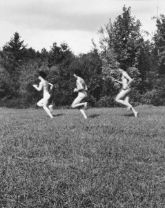 Hippies Running, by Rebecca Lepkoff (1970-1971)