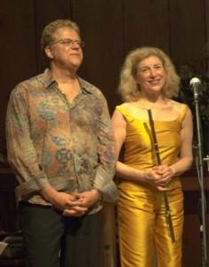 Paula Robison and Cyro Baptista. Photo © 2010 Michael Miller.