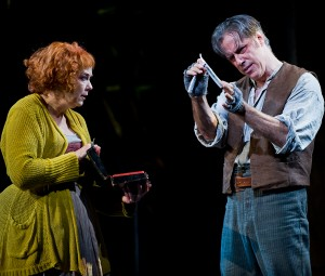 """Harriet Harris and Jeff McCarthy in Barrington Stage Company's """"Sweeney Todd"""" - Music Murdered? Photo by Kevin Sprague."""