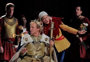 Lewis Spratlan's Life is a Dream: Roger Honeywell (Segismundo) & Keith Jameson (Clarin). Photo Ken Howard.