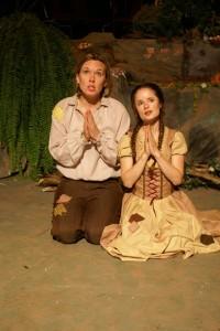 Kara Cornell and Alexina Jones as Hansel and Gretel in Humperdinck's Opera