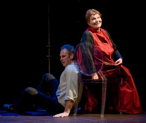 Nigel Gore and Tina Packer in Women of Will. Photo Kevin Sprague.