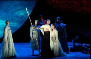 Das Rheingold from the Ring, Frankfurt 1985–87, directed by Ruth Berghaus, Axel Mathey, designer