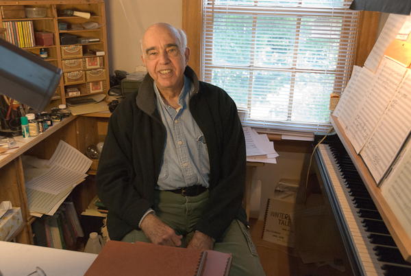 Yehudi Wyner in his Workspace. Photo Michael Miller 2010.