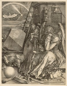 Albrecht Dürer, Melencolia I, 1514, Engraving. Sterling and Francine Clark Art Institute 1968.89