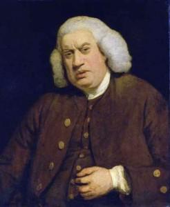 Samuel Johnson by Sir Joshua Reynolds.