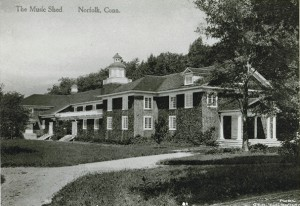Old Postcard of the Music Shed at Norfolk