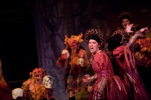 Carrie Henneman Shaw and Brenna Wells in the Boston Early Music Festival production of Purcell's Dido and Aeneas. Photo André Costantini.