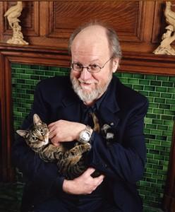 Charles Wuorinen with Lepton the Cat. Photo Nina Roberts.