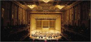 Boston Symphony Orchestra in Symphony Hall. Photo Constantine Manos.