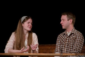 """The Soda Fountain Scene in """"Our Town"""" at Hubbard Hall. Photo © 2011 Jonathan Barber."""
