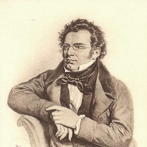 Franz Schubert. Posthumous lithograph by Joseph Kriehuber.