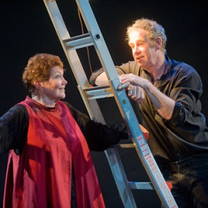 Tina Packer and Nigel Gore in Women of Will, 2011. Photo Kevin Sprague.