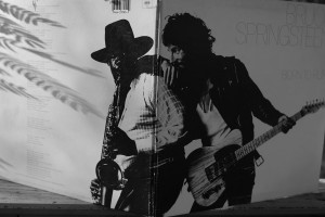 Clarence Clemons and Bruce Springsteen on the cover of Born to Run (1975).