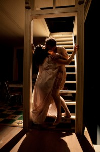 Ana Reeder, Sam Rockwell in a scene from A Streetcar Named Desire at Williamstown Theatre Festival. Photos by T. Charles Erickson.