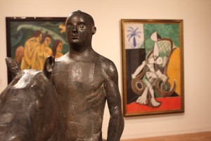 Marino Marini, Rider, 1936 with Picasso's Nude in a rocking chair, 1956. Photo © 2011 Alan Miller.