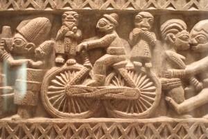A bicycle in the Musée du quai Branly, Paris. Photo © 2010 Alan Miller.