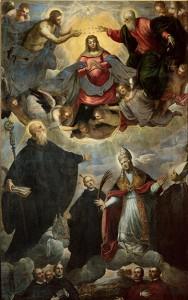Domenico Tintoretto and Jacopo Tintoretto, Coronation of the Virgin, San Giorgio Maggiore, Venice.