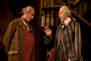 Paxton Whitehead, Richard Easton in a scene from She Stoops To Conquer at Williamstown Theatre Festival. PhotoT. Charles Erickson.