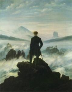Caspar David Friedrich, Der Wanderer über dem Nebelmeer, oil on canvas, Kunsthalle Hamburg.
